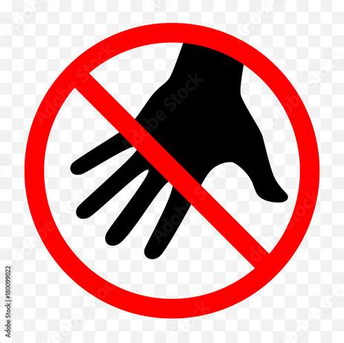 Obraz don't touch sign - fototapety do salonu