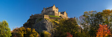 Edinburgh Castle, One Of The Most Famous Landmark Of Scotland. City Of Edinburgh, United Kingdom