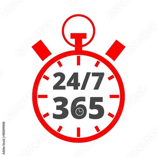 Fényképezés  Open 24/7 - 365, 24/7 365, 24/7 365 sign