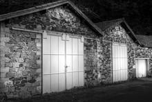 Vintage Garage's White Sliding Doors