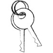 keys security isolated icon