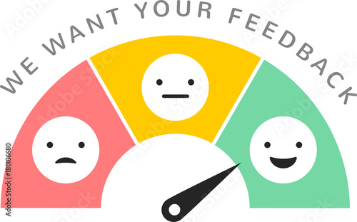 Feedback concept design, emoticon, emoji and smile, emotions scale Tapéta, Fotótapéta