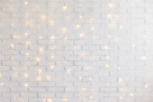 White Brick Wall Background Wi...