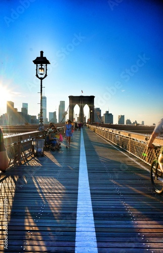 Canvas Prints Bridge Pont brooklin