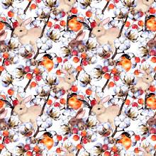 Rabbits, Finch Birds, Cotton P...