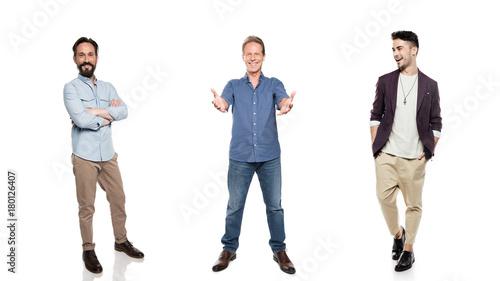 Fotomural stylish smiling men