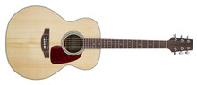 Acoustic Guitar Isolated On Wh...