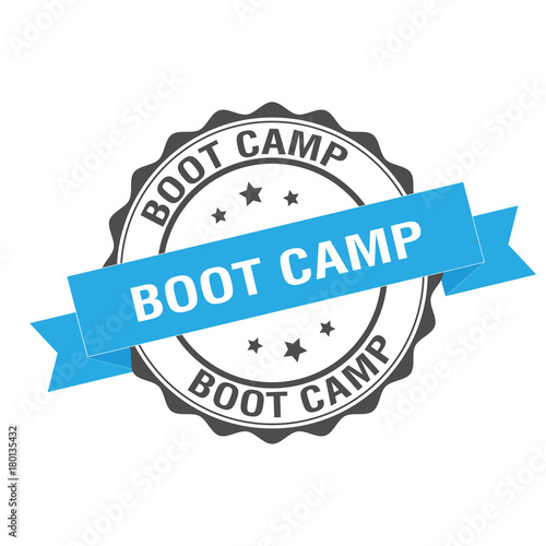 Fotografie, Obraz  Boot camp stamp illustration
