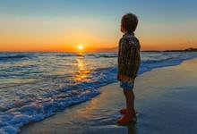 Little Boy Watching The Sunset...