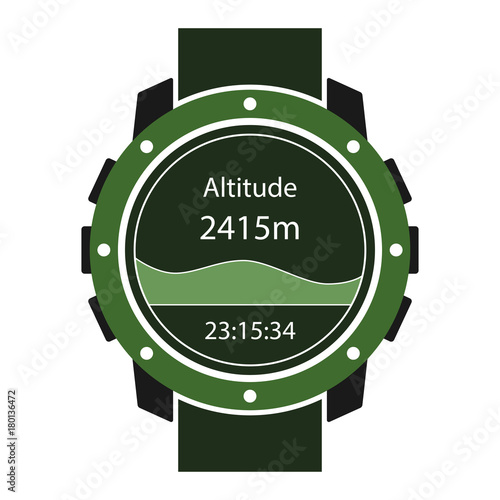 Hiking watches icon Wallpaper Mural
