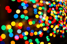 Colored Christmas Lights Backg...