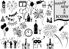 Happy New Year Icon Collection...