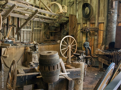 Photo Stands Ship Wheelwright Shop