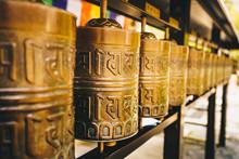 Buddhist Prayer Wheels At Kyot...