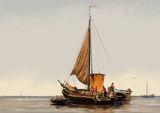 Sztuka. Morskie pejzaże, cyfrowa sztuka olejna, rybak, dzieła sztuki - 180147454