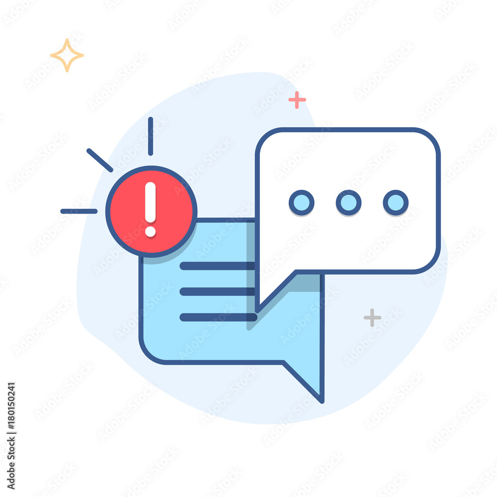 Fototapeta New Message, Dialog, Chat Speech Bubble Notification icon vector