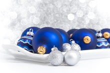 Blue And Silver Christmas Orna...