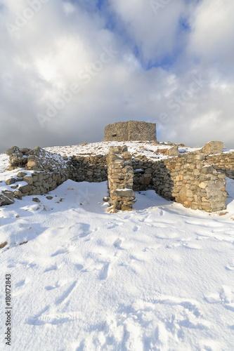 Foto op Aluminium Rudnes Luftwaffe radar ruins from W.W.II in Borga. Eggum village-Vestvagoya-Lofoten-Norway. 0546