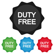 Duty Free Star Emblem - Colour...