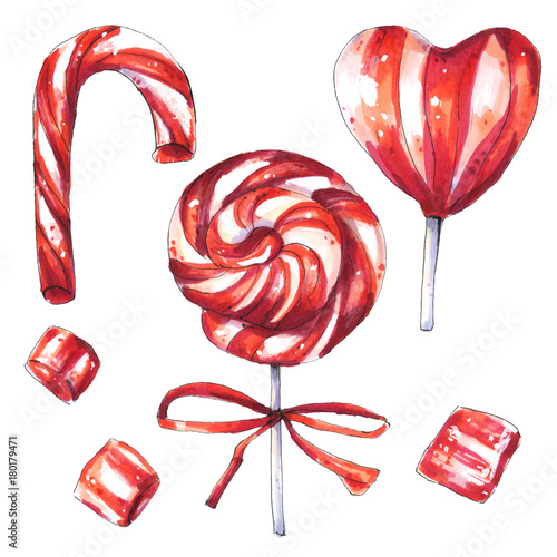 Christmas Candies.Christmas Candies Set Candy Cane Swirl Lollipop Buy This