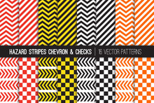 Hazard Stripes, Chevron And Ch...