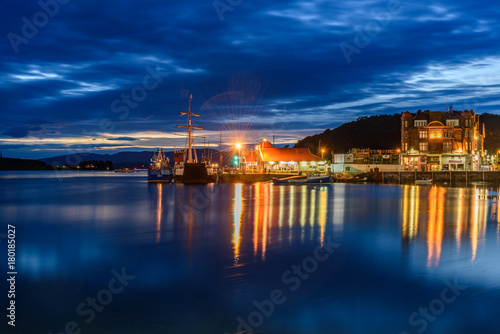 Night view of Oban, Scotland Canvas Print