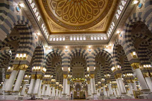 The Interior Design Of Prophet Muhammad Mosque In Medina  Al