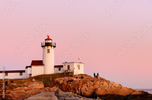 Fotografie, Obraz  Beautiful sunset of Eastern Point Lighthouse at Gloucester, Massachusetts, USA
