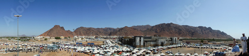 Mount Uhud (In Panorama Mode) Is A Mountain North Of Medina, Saudi Arabia. It Is 1,077 m (3,533 ft) High And Was The Site Of The Battle of Uhud Which Was Fought On 19 March, 625 AD