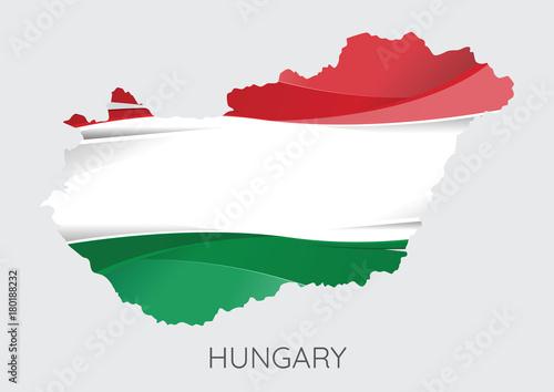 Wallpaper Mural Map of Hungary
