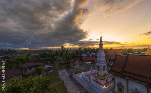 Photo Stands Kiev Watdhatjampa temple at Phonsawan district Nakhonphanom province ,Thailand...
