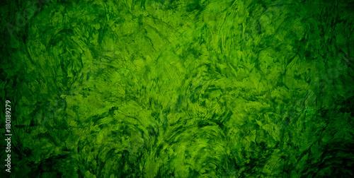 green mortar background texture / green wall - 180189279