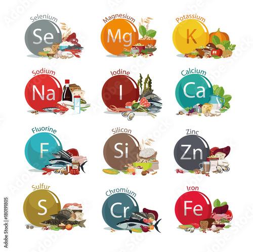 Fotografía  12 microelements for human health.