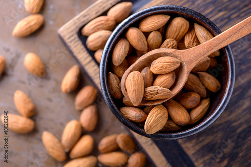 Almonds and nutcracker Canvas Print
