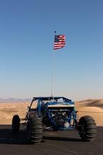 Big Sand Car With American Flag