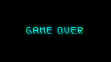 Game Over Text With Bad Signal...