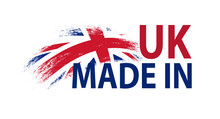 Made In UK. Vector Label With ...