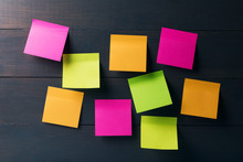 Blank Colorful Sticky Notes On...