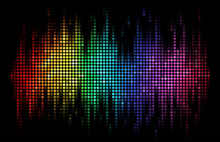 Vector Sound Wave Display Dots