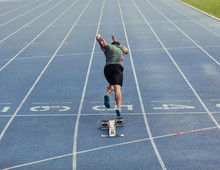 Sprinter Taking Off From Start...
