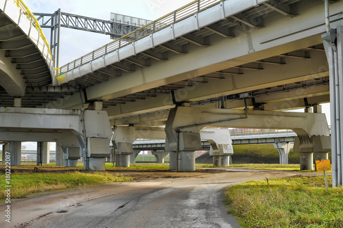 Junction of highways,highway overpass Canvas Print