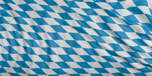 Waving Flag Of Bavaria, Germany, With Silk Texture. 3d Illustration