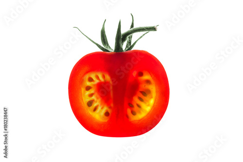 Tomato slice backlit Canvas Print