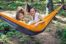 Joyful Mom And Daughter Relax ...