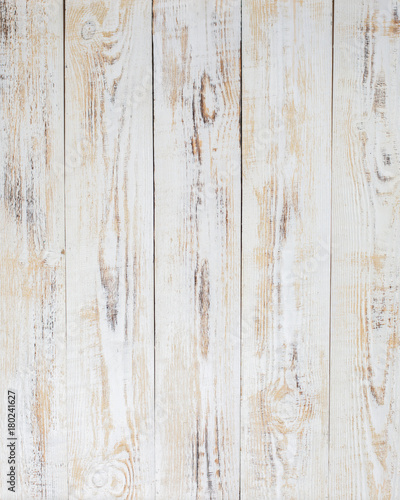 Poster Bois White wood background pattern with high resolution. Top view Copy space