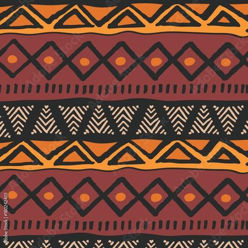 Foto auf AluDibond Boho-Stil Tribal ethnic colorful bohemian pattern with geometric elements, African mud cloth, tribal design