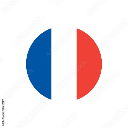 Fotografía France flag, official colors and proportion correctly