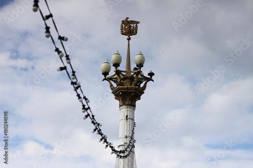 Keuken foto achterwand Schip Eagle and lamp