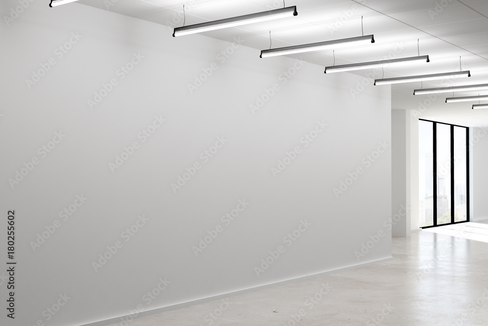 Fototapety, obrazy: Concrete interior with empty wall