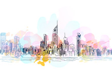 City Drawing Background